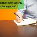 ¿Son importantes los seguros para los negocios?