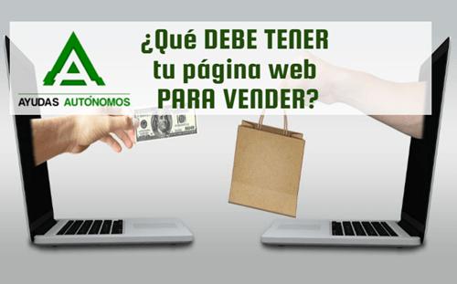 ¿Qué debe tener tu página web para vender?
