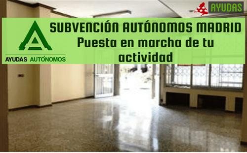 Ayuda para Autónomos en Madrid 2017, subvenciona tu actividad