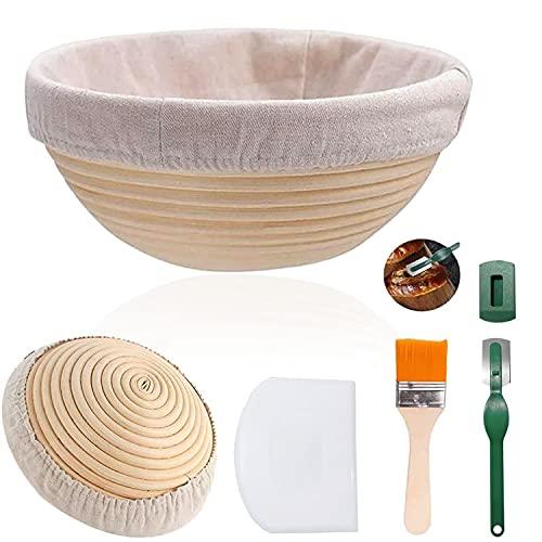Cesta de fermentación para pan, 25 cm, redonda, para 900g de...