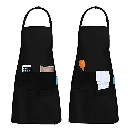 esafio 2 Piezas Delantal, Unisex Delantales de Cocinero para...