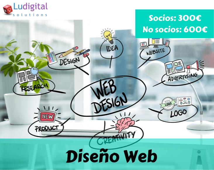 Diseño web 2.0 Ludigital Solutions Leganés