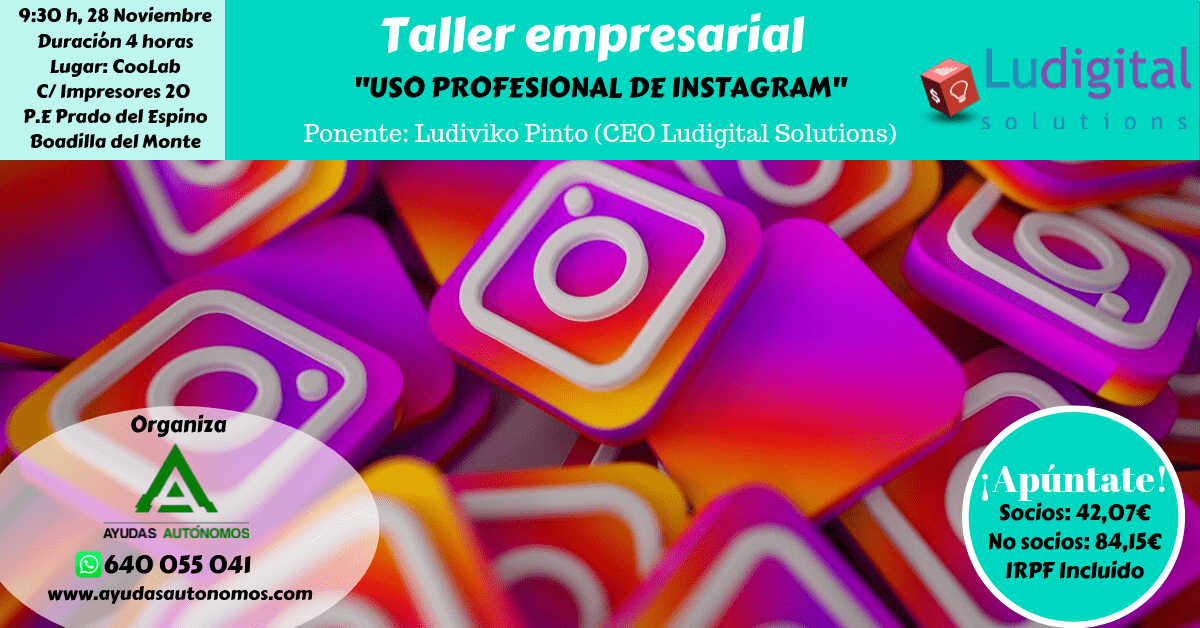 Taller Instagram Madrid Ayudas Autónomos 1
